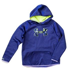 Under Armour Storm 1 Purple Blue Pullover Hoodie